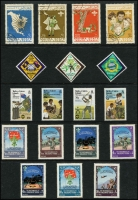 Lot 129 [2 of 4]:Scouts: 1950s-80s Selection on 18 Hagners from Arab States, Ascension, Ghana, Grenada, Iran, Laos, Transkei, etc. (Approx 300 & 114 M/Ss/Sheetlets,)