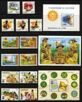 Lot 129 [3 of 4]:Scouts: 1950s-80s Selection on 18 Hagners from Arab States, Ascension, Ghana, Grenada, Iran, Laos, Transkei, etc. (Approx 300 & 114 M/Ss/Sheetlets,)