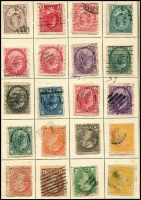 Lot 125 [2 of 4]:'Lincoln' stamp album c1890s 5th Edition with several coloured maps, incl Canada, GB few QV, 1913-19 Seahorse 2/6d, 5/-, 1934 set (3), Russia, Switzerland, also 'The Empire Stamp Album' c1910 [new & enlarged edition] with 446 pages and sparsely filled. Mixed condition. HEAVY LOT.