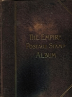 Lot 125 [3 of 4]:'Lincoln' stamp album c1890s 5th Edition with several coloured maps, incl Canada, GB few QV, 1913-19 Seahorse 2/6d, 5/-, 1934 set (3), Russia, Switzerland, also 'The Empire Stamp Album' c1910 [new & enlarged edition] with 446 pages and sparsely filled. Mixed condition. HEAVY LOT.