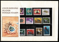 Lot 444 [2 of 3]:AAT 1966-68 Pictorials in 'Japanese Pack', also Cocos (Keeling) Islands 1969 Pack (2, one in sealed pack as issued, the other in sealed Cocos illustrated window envelope). (3)
