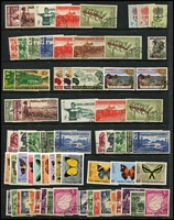 Lot 365 [2 of 2]:AAT 1957 (3 sets MUH), Christmas Island 1958 Defins (4 sets, two MUH, two CTO), 1963 Picts (10, CTO), 1968-69 Fish (12, CTO), Nauru 1954 Picts (2 sets, CTO), Norfolk Island 1966 Decimal Opts (CTO with both 1c & $1), 1967-68 Ships (14, CTO), PNG 1958-60 Picts (7, CTO plus several other issues), 1963 Rabaul 10/- (2, one CTO) 1966-67 Butterflies (12, MUH). Retail approx $400. (Approx 200)