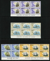 Lot 1190 [2 of 2]:Accumulation in album & on 38 Hagners, incl Christmas Island 1970-84 range incl 1972-73 Ships, 1977-78 Visitors & many commems also in imprint blocks of 6, etc. (Retail $300+). Nauru 1973-76 range mostly in Plate blocks of 4 incl 1973 Picts, 1974 UPU (ex M/Ss), 1st Contact (2 sets), etc. (Retail $250+). Total Retail $550+. (100s)
