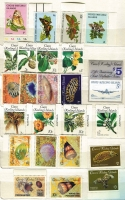 Lot 445 [1 of 3]:Accumulation incl Christmas Island 1987 Wildlife (17), 1990 Abbott's Booby (4), various Christmas issues & M/Ss, Cocos Islands 1985-86 Shells (16), 1988 Coconuts (4 & M/S), 1990 NZ '90 Flowers M/S, $5 Opt, 1990-91 (43c) on 10c, Norfolk Island 1980 Planes (16), 1984 Flowers (16), 1987-88 Scenes (16), 1990-91 Ships (12), 1992 WWF (strip of 4 & M/S), Coral Sea (5), etc, plus small array of FDCs. Many other commems. (100s)