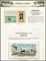 Lot 373 [1 of 2]:Christmas Island 1958-93 Collection on Seven Seas hingeless pages almost complete incl 1990 Birdpex M/S, 1992 K.L. Shell opt (2), MUH (1963 Picts & 1968 Fish are MLH). Retail $720. (few 100)