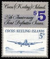 Lot 426 [1 of 2]:Cocos (Keeling) Islands 1963-93 Collection on Seven Seas pages almost complete (ex ASC 140b & 141a). Retail $465.
