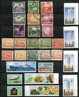 Lot 447 [3 of 3]:Stockbook with Nauru incl 1954 Picts (9, CTO), 1974 1st Contact (2 sets), 1978 Provisionals (4), range of commems, some in blocks, and Norfolk Island incl 1947 Ball Bay (2 sets of 12), 1959 3d & 2/- (2 sets, one MUH), 1970-71 Birds (15, CTO), 1973-75 Buildings (3 sets), 1974 UPU (4 and 2 M/Ss), 1997 $2 Booklet, some commems in blocks of 4. (100s)