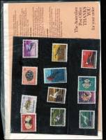 Lot 444 [5 of 7]:AAT 1966-68 Pictorials in 'Japanese Pack', also Cocos (Keeling) Islands 1969 Pack (2, one in sealed pack as issued, the other in sealed Cocos illustrated window envelope). (3)