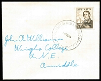 Lot 312:1966 (14 Feb) 1c to $4 (ex coils) each on plain addressed FDC and cancelled with 'UNIVERSITY OF NEW ENGLAND ARMIDALE/N.S.W. AUSTRALIA' cds. (22)
