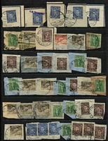Lot 366 [2 of 3]:Military & RAAF postmarks on pieces mostly from KGVI era, also few overseas types. Mixed condition. (200+)