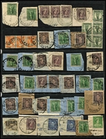 Lot 366 [3 of 3]:Military & RAAF postmarks on pieces mostly from KGVI era, also few overseas types. Mixed condition. (200+)
