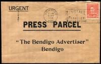 Lot 384 [1 of 8]:Advertising Covers 1938-65 for Stock & Station Agents throughout Victoria, 1939-40s slogans selection with duplication, many from Bendigo or Melbourne. Mixed condition. (75+)