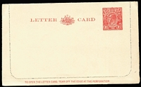 "Lot 363 [3 of 4]:1913-70s Group of eight, incl 1d Roo Die 2 (Pineapples) unused #LC16, 1½d KGV #LC58 unused; 2d red KGV #LC64 used to South Africa with mss ""SS Ulysses""; plus four Registration Envelopes. (14)"