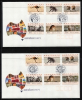 Lot 370 [2 of 3]:2004 'FREIGHTLINK': Adelaide to Darwin commem cds (4 different) on 3 sets of 4 covers each with a set of 'FREIGHTLINK 2004' counter printed stamp plus 3 mint sets of the counter printed stamps. Also 2004 'GHAN TO DARWIN' commem cds (10 different) on 3 sets of 10 covers plus 3 sets of 'Ghan to Darwin' counter printed stamps. Original cost $100+. (32 Stamps, 42 covers)