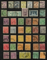Lot 226:1913-60s Accumulation incl heavily duplicated KGV Heads & commems, range of Queensland cds postmarks, 1937-49 Robes Thick paper 10/-, £1, also small array of minor varieties from KGV to QEII. Very mixed condition. (100s)