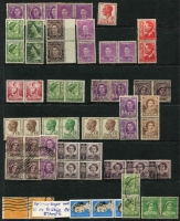 Lot 230 [3 of 3]:1913-70s Accumulation with strength in KGV issues incl values to 1/4d (3), numerous varieties, many opportunistically described (and not always correct) incl several coils, shades, multiples, few perfins 'OS' or 'OS/NSW', inking flaws, 'RA' joined. Very mixed condition. (300+)