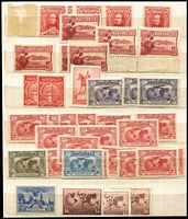 Lot 178 [2 of 4]:Australia & Territories Collection incl Roos 6d SM wmk perf small 'OS', few KGV Heads & MUH/MLH array of low value KGV-QEII issues, 1984 'SPECIMEN' painting pack, also few Christmas Island, Cocos incl 1989 Emden strip & M/S, Nauru 1989 Girl on the Moon, Norfolk Is 1990-91 Ships (12), Robin (4 & M/S), etc. Generally fine. (100s)