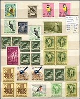 Lot 178 [1 of 4]:Australia & Territories Collection incl Roos 6d SM wmk perf small 'OS', few KGV Heads & MUH/MLH array of low value KGV-QEII issues, 1984 'SPECIMEN' painting pack, also few Christmas Island, Cocos incl 1989 Emden strip & M/S, Nauru 1989 Girl on the Moon, Norfolk Is 1990-91 Ships (12), Robin (4 & M/S), etc. Generally fine. (100s)