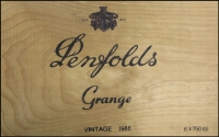 Lot 182 [2 of 2]:Penfolds Grange Box (1988, with no lid) containing old cigar box & 2 containers with approx 300gr of second-grade Roos & KGV Heads, many perf 'OS' or 'OS/NSW'. off-paper. Much potential here. (2.27kg). (1,000s)