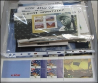 Lot 277:1980s-2000s with 2000 World Stamp Expo Sheets (2), also some issues still in unopened PO packets. Face Val $126+.