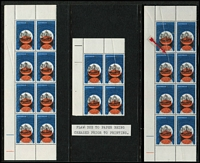 Lot 261 [1 of 3]:1966-76 Varieties Selection incl 1966 Hartog 4c two corner blocks of 8 & corner block of 4, each with some units affected by paper fold prior to printing, 1972 Rehabilitation 12c corner block of 6, one unit with Doctor Blade flaw, 1976 Scenes 35c block of 4, two units with paper join, Nat Stamp Week M/S 2 units with Doctor Blade flaw. (7 Items)