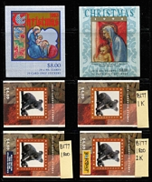 Lot 345 [1 of 3]:Booklets 1989-2002 with range of reprints, 1k, 2k, etc, incl $4.50 (31), $7.60, $8 (2), $9 ATM Triangular, etc, several booklets optd for Stamp or Stamp & Coin Shows. Face value $215+. (59 Booklets & 2 sheetlets)