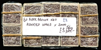Lot 216:1½d Black-Brown mixed wmks. in bundles of 100 x20, few perf 'OS/NSW'. (2,000)