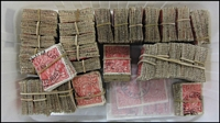 Lot 297:2d Red various wmks, incl 100 on paper. (3,000)
