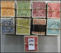 Lot 323:½d to 1/4d 100 sets in bundles of 100 incl 2d wmk inverted. (900)