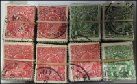 Lot 249:1d Green (300), 1½d red (500). Rare in this quantity. (800)