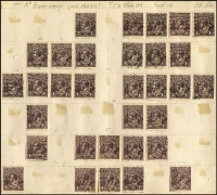 Lot 252 [1 of 3]:1½d Black-Brown/Browns etc, mostly Single Wmks on album page remainders with many varieties identified. Few perf 'OS' or 'OS/NSW'. Mixed condition. (500+)