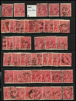 Lot 207 [1 of 3]:1d Red shades, identified by 'G' numbers, several dated examples, few perf 'OS' or 'OS/NSW'. Mixed condition. (160+)