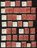 Lot 311 [3 of 3]:1½d Red Accumulation with numerous minor varieties identified, some dated examples, few perf 'OS'. Some postmark interest. Mixed condition. (Few 100)