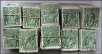 Lot 279:1d Green 17 bundles of 100. (1,700)
