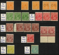 Lot 748 [2 of 2]:½d to 1/4d Group incl 1½d brown (shades), 4d olive (MUH), 1/4d (2, one possibly MUH, faults). Some MUH. Mixed condition. (22)