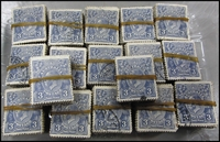 Lot 248:3d Blue Die II in bundles of 100 x16 and bundle of 50. BW #108. (1,650)