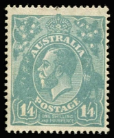 Lot 746:1/4d Deep Turquoise BW #129C, intensely deep shade, MUH, well centred, characteristic yellowish gum peculiar to this rare printing, tiny natural paper flaw at top, Cat $5,250.