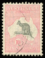 Lot 590:10/- Grey & Pink BW #50, fine used Cat $300. Ex Hardy.