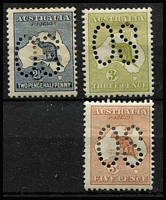 Lot 252 [2 of 2]:2½d, 3d, 4d & 5d all perf large 'OS', BW #9ba,12ba,15ba,16ba, few hinge remains, also tone spots on 2½d, Cat $2,400. (4)
