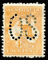 Lot 252 [1 of 2]:2½d, 3d, 4d & 5d all perf large 'OS', BW #9ba,12ba,15ba,16ba, few hinge remains, also tone spots on 2½d, Cat $2,400. (4)
