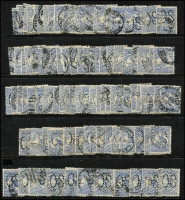 Lot 174:6d Ultramarine perf Large 'OS' BW #17bb x102, generally fine.