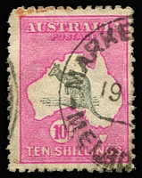 Lot 286:10/- Grey & Pink small faults. BW #48.