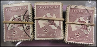 Lot 209:2/- Maroon in bundles of 100 x3. BW # (300)