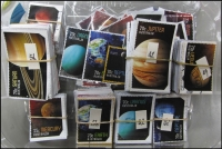 Lot 255:2015 Sheet Stamps Planets 35c Mercury (200), Mercury (200), 70c Neptune & Pluto (39), Venus (49), Earth (56), Uranus (52), Jupiter (42), Saturn (56), plus 4 stamps from M/S. All cut close. (698)