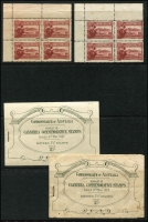 Lot 285:1927 Canberra 1½d two top left corner Plate No blocks of 4, No '5' & '12', plus two 2/- Booklets. All with faults.,.