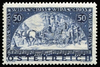 Lot 1318:1933 WIPA Exhibition 50g+50g ultramarine, very lightly mounted. SG #703, Cat £200.