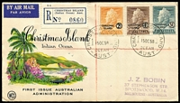 Lot 448 [1 of 7]:1958 Definitives set of 10 on the neatly addressed registered Wesley FDCs, also 1963 Picts set on illustrated FDC to Victoria. (4)