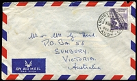 Lot 417:1966? (May 31) Airmail Cover to Australia with 10c Raising Phosphate. Minor blemishes.