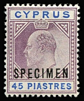 Lot 1475 [1 of 2]:1902-04 Wmk Crown CA optd 'SPECIMEN' set, SG #50ws-59s, Cat £450. (10)