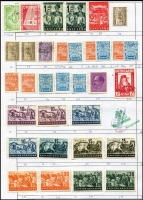 Lot 4 [2 of 3]:Approval Sheets with selections from Europe incl GB, Germany, Malta, Sweden, Asia, South East Asia, Spanish Colonies, etc. (Approx 3.5kg) (1,000s)
